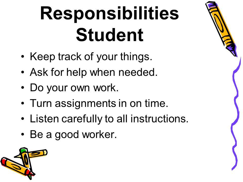 Responsibilities Student