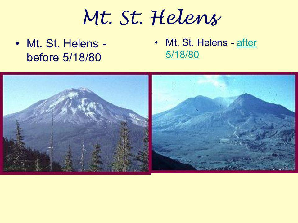 Mt. St. Helens Mt. St. Helens - before 5/18/80