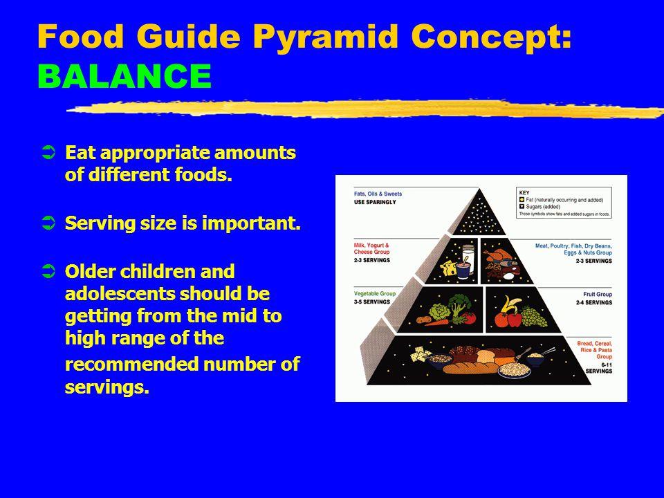 Food Guide Pyramid Concept: BALANCE