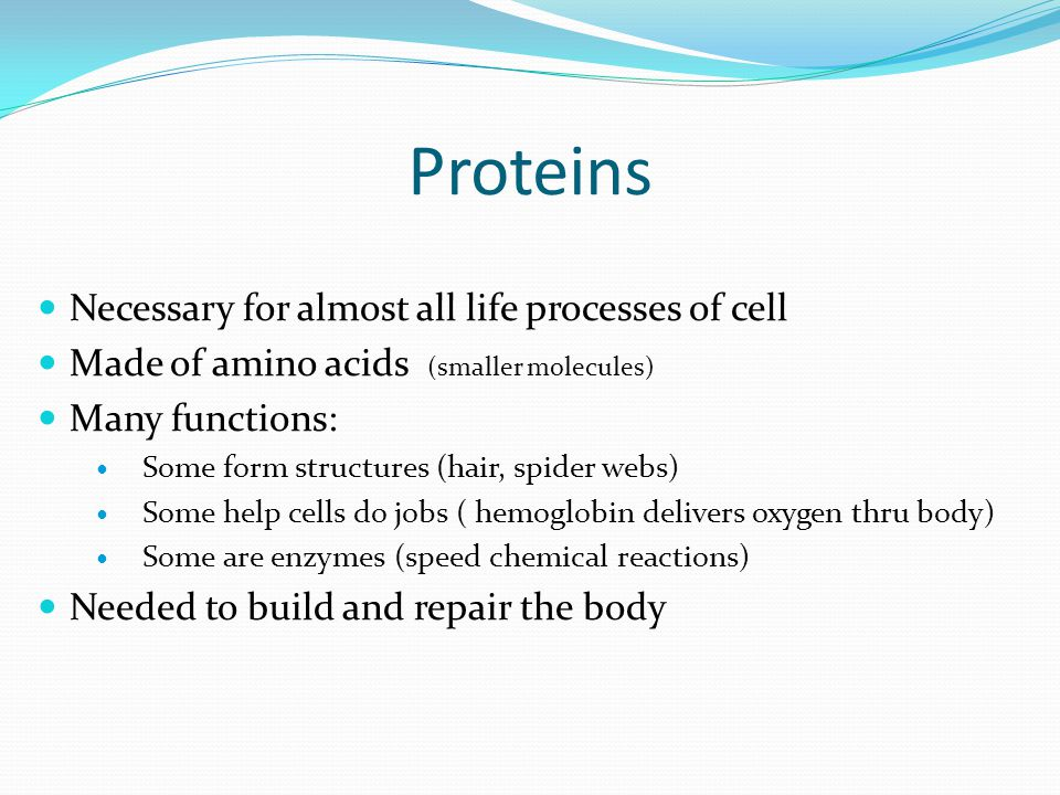 Proteins Necessary for almost all life processes of cell