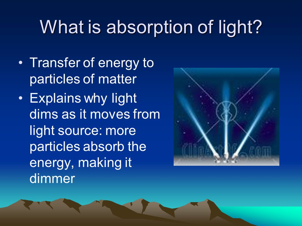 What is absorption of light
