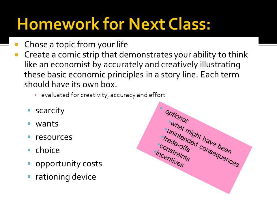 Homework for Next Class: