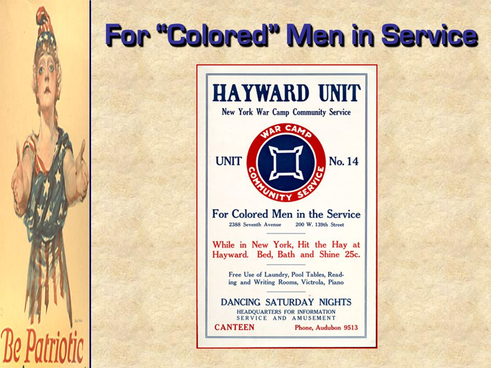 For Colored Men in Service
