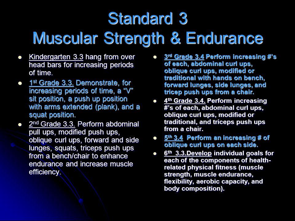 Standard 3 Muscular Strength & Endurance