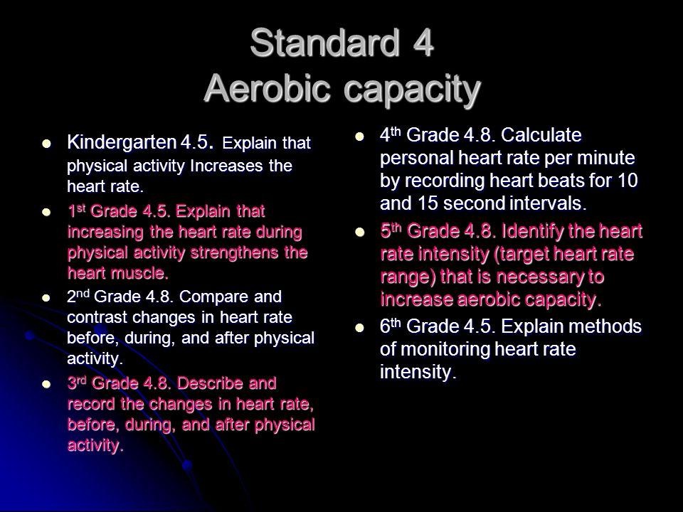 Standard 4 Aerobic capacity