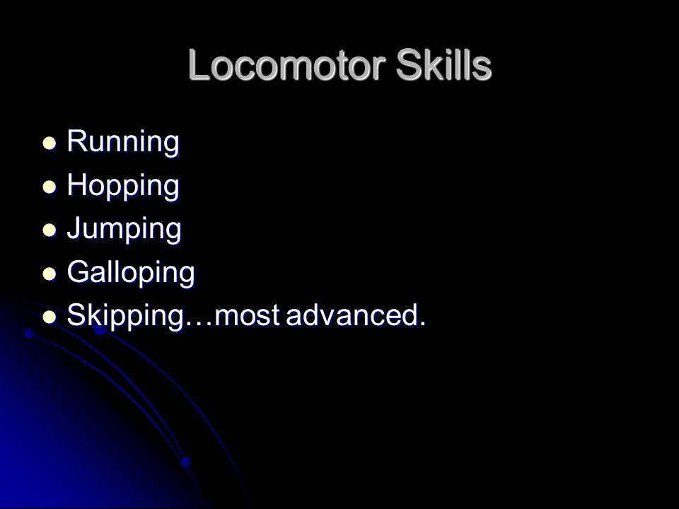 Locomotor Skills Running Hopping Jumping Galloping