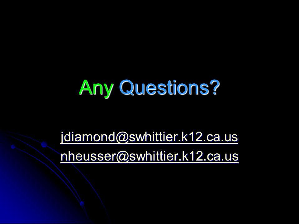 jdiamond@swhittier.k12.ca.us nheusser@swhittier.k12.ca.us