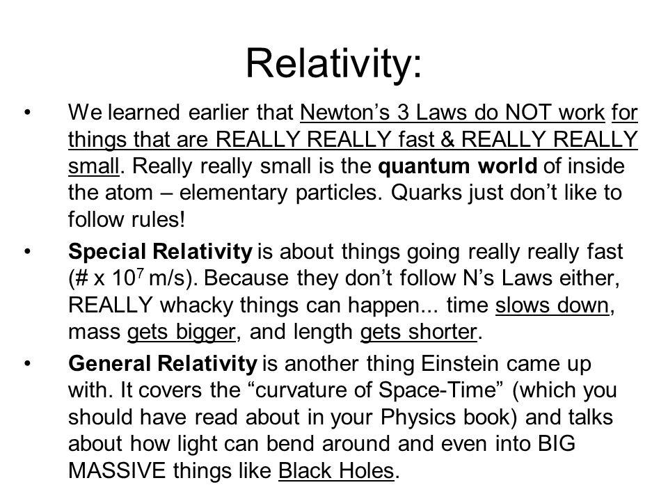 Relativity: