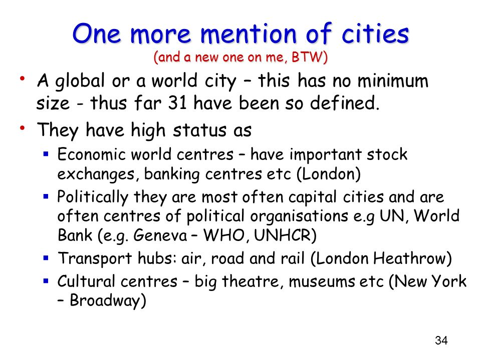 One more mention of cities (and a new one on me, BTW)
