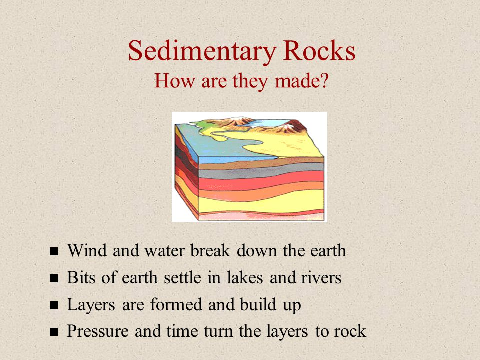 Sedimentary Rocks How are they made