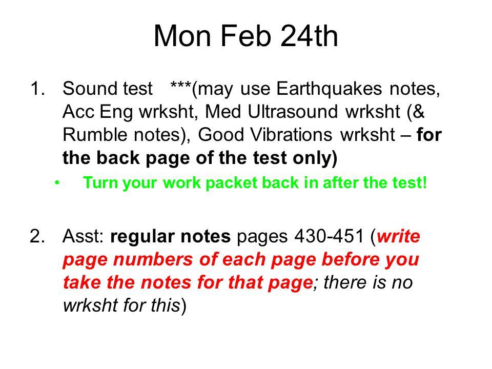 Mon Feb 24th