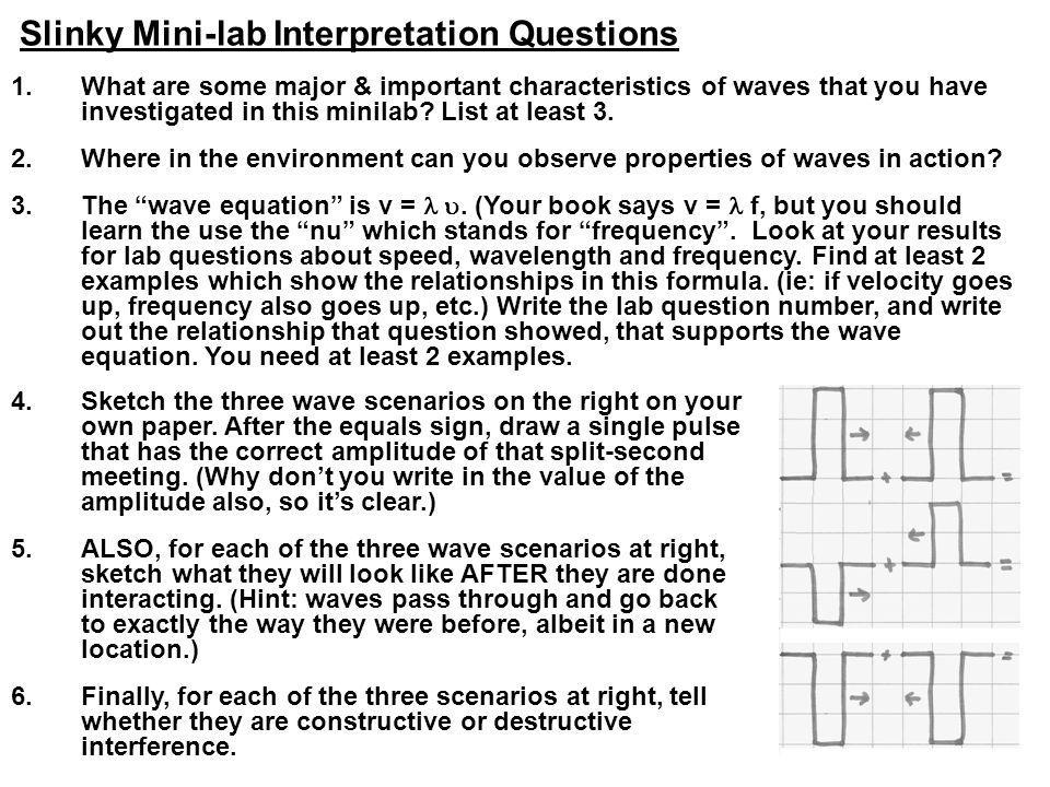 Slinky Mini-lab Interpretation Questions