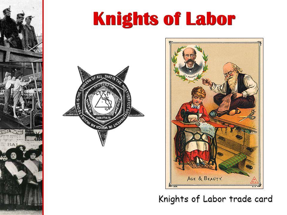 Knights of Labor trade card