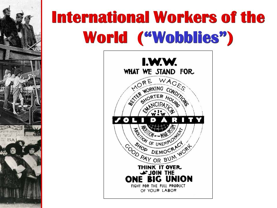 International Workers of the World ( Wobblies )