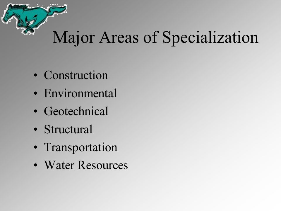 Major Areas of Specialization