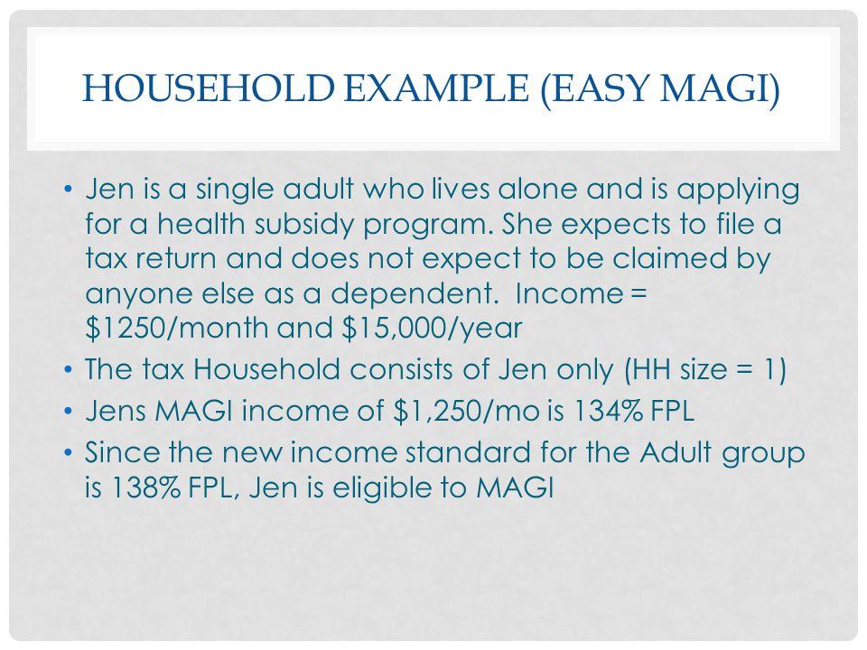 Household Example (Easy MAGI)