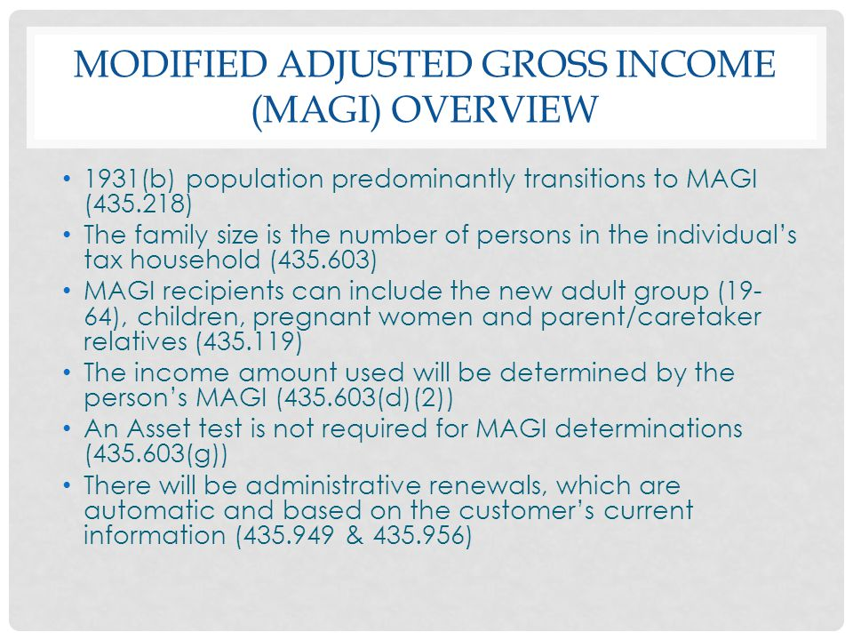 Modified Adjusted Gross Income (MAGI) Overview