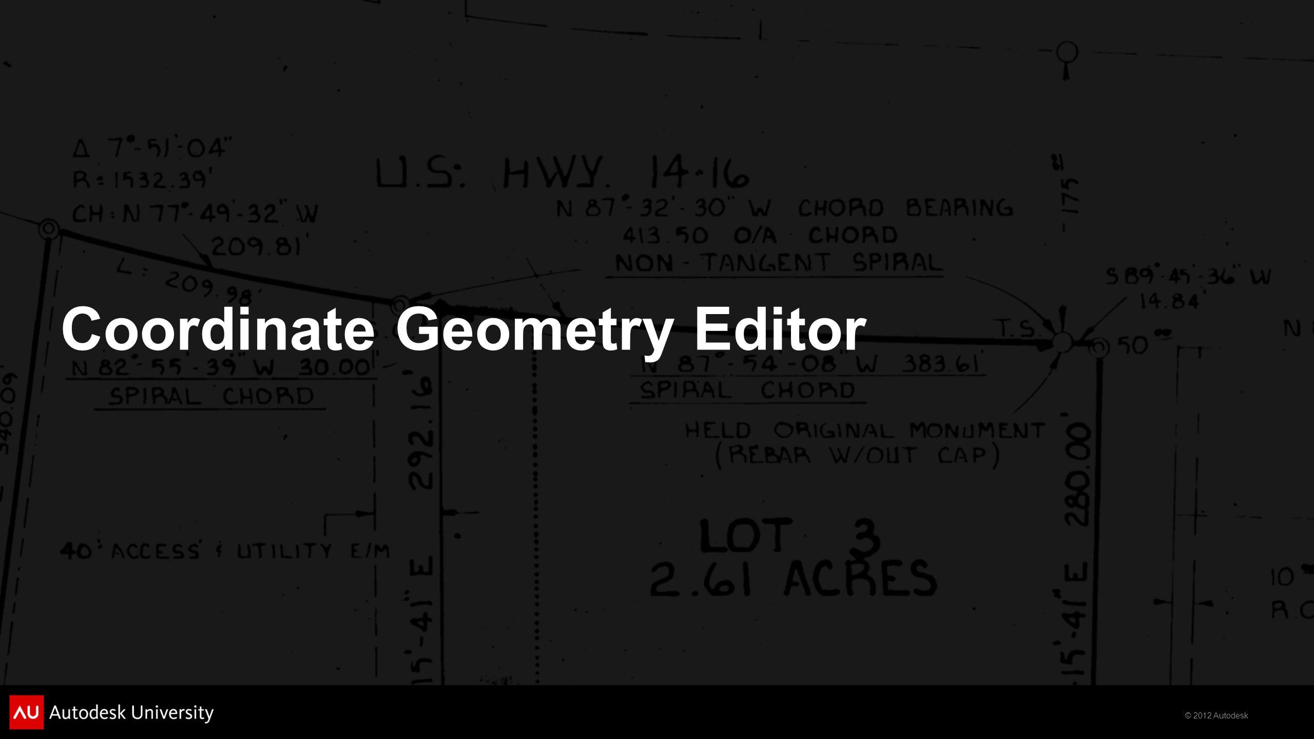 Coordinate Geometry Editor