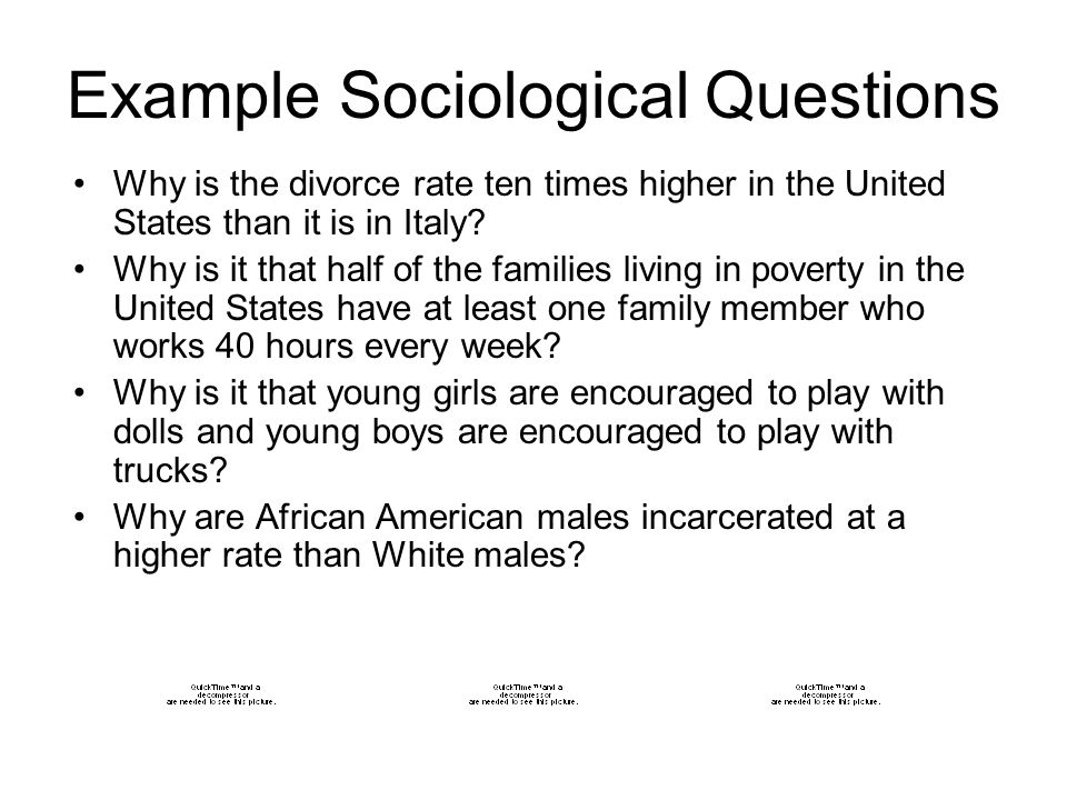 Example Sociological Questions