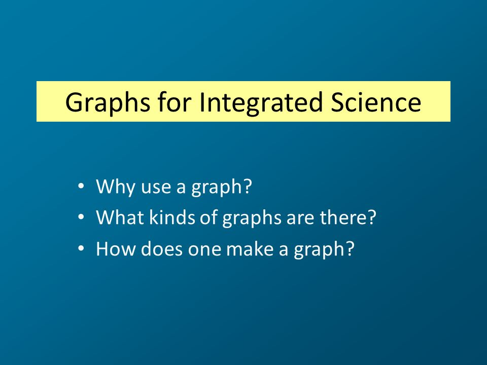 Graphs for Integrated Science