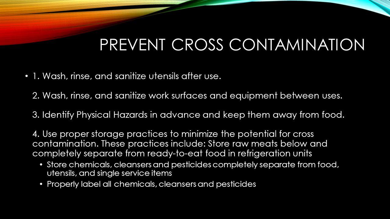 Prevent Cross Contamination