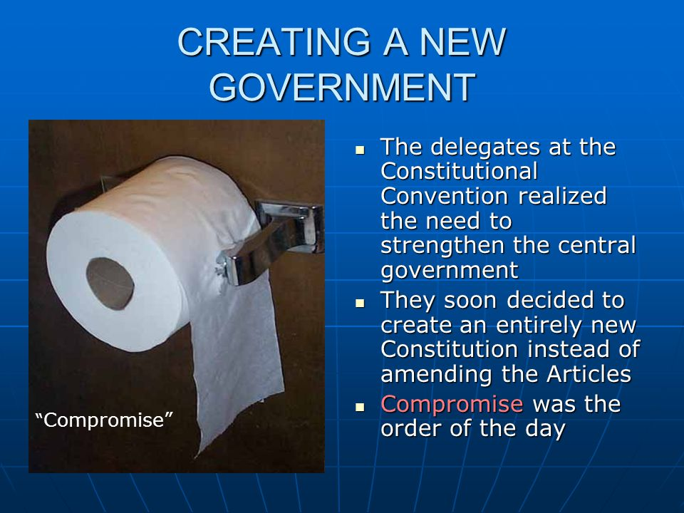 CREATING A NEW GOVERNMENT
