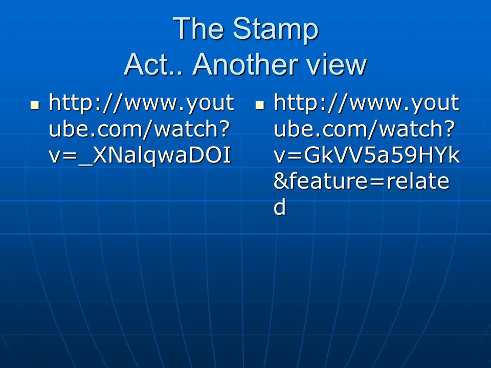 The Stamp Act.. Another view