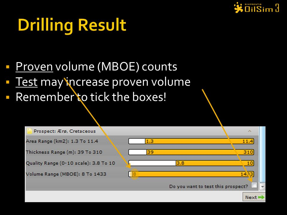 Drilling Result Proven volume (MBOE) counts