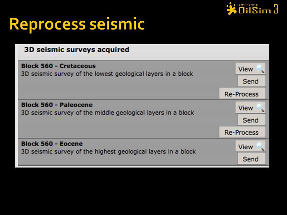 Reprocess seismic Cost $100000