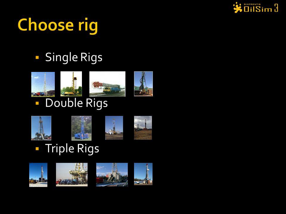 Choose rig Single Rigs Double Rigs Triple Rigs