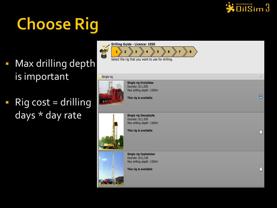 Choose Rig Max drilling depth is important