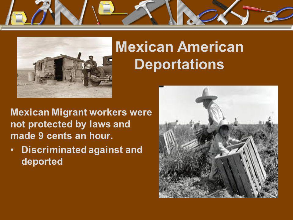 Mexican American Deportations
