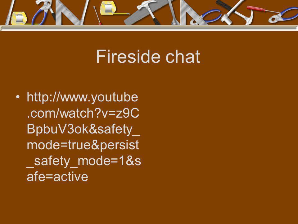 Fireside chat http://www.youtube.com/watch v=z9CBpbuV3ok&safety_mode=true&persist_safety_mode=1&safe=active.