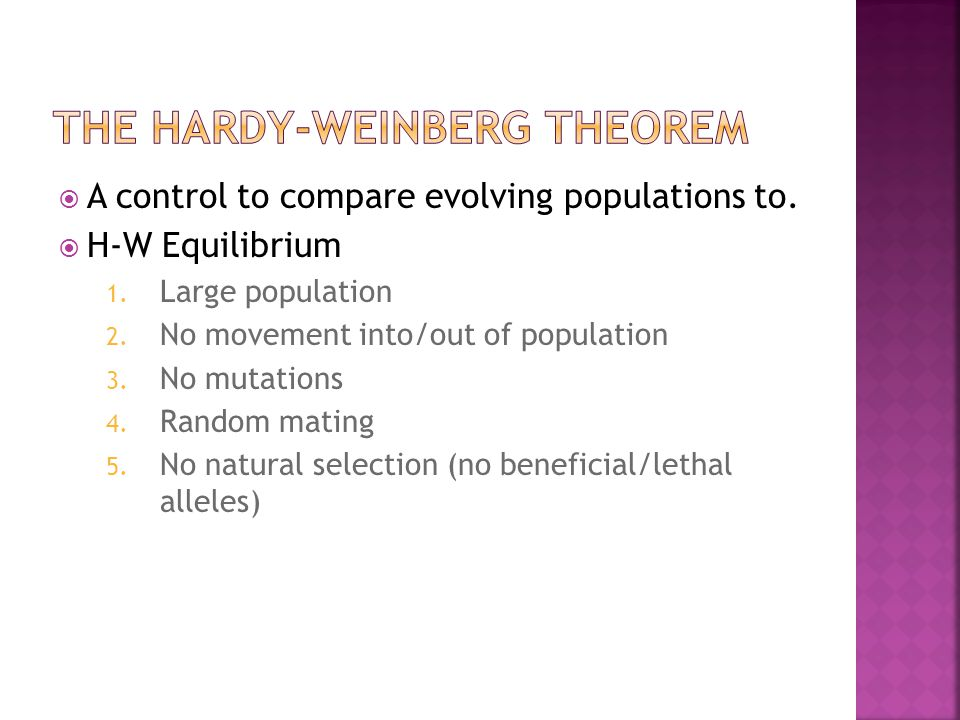 The Hardy-Weinberg Theorem