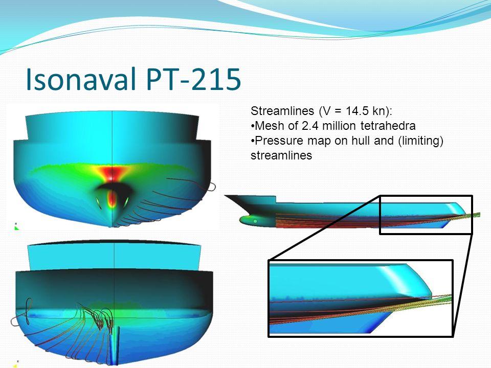 Isonaval PT-215 Streamlines (V = 14.5 kn):