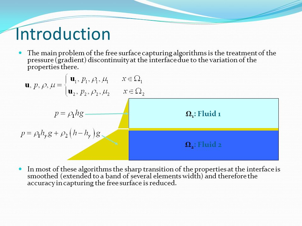 Introduction Ω1: Fluid 1 Ω2: Fluid 2