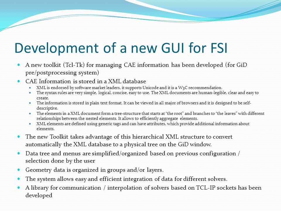 Development of a new GUI for FSI