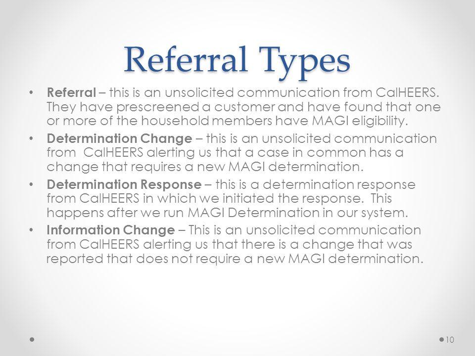 Referral Types