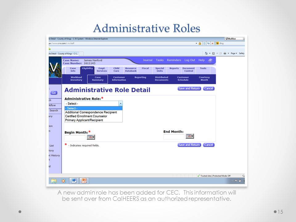 Administrative Roles Ask: Where do to find the admin roles