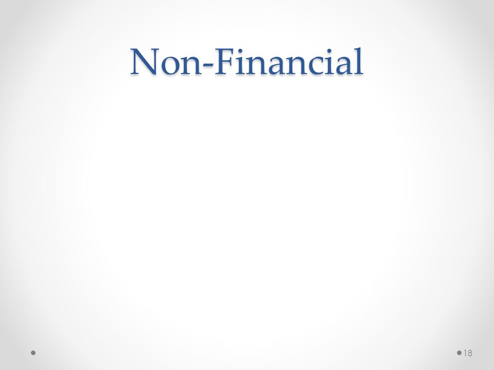 Non-Financial