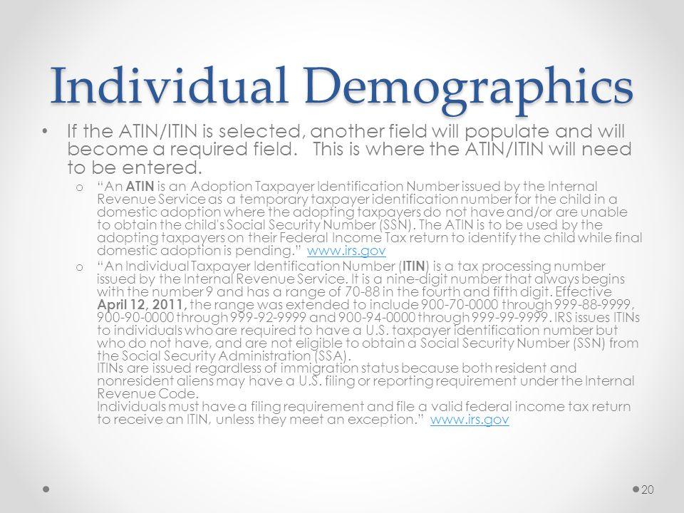 Individual Demographics