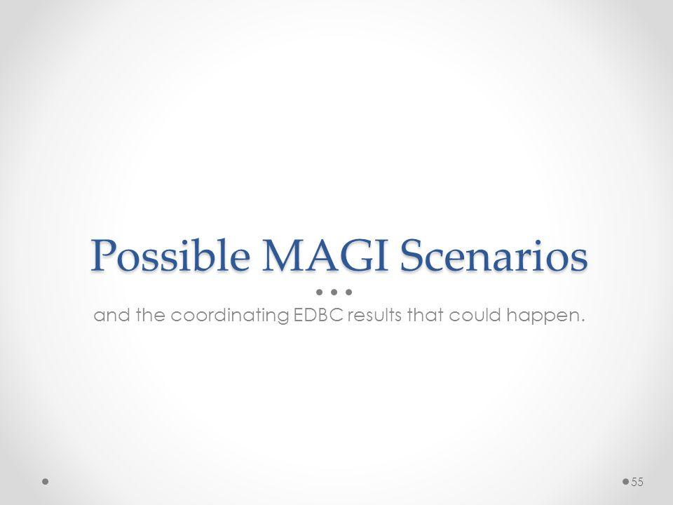 Possible MAGI Scenarios