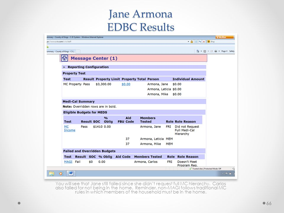 Jane Armona EDBC Results
