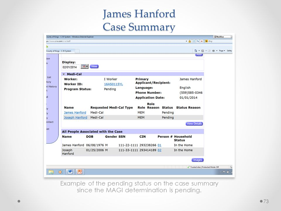 James Hanford Case Summary