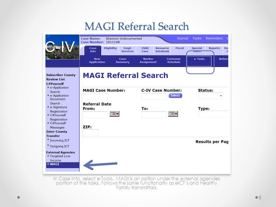 MAGI Referral Search
