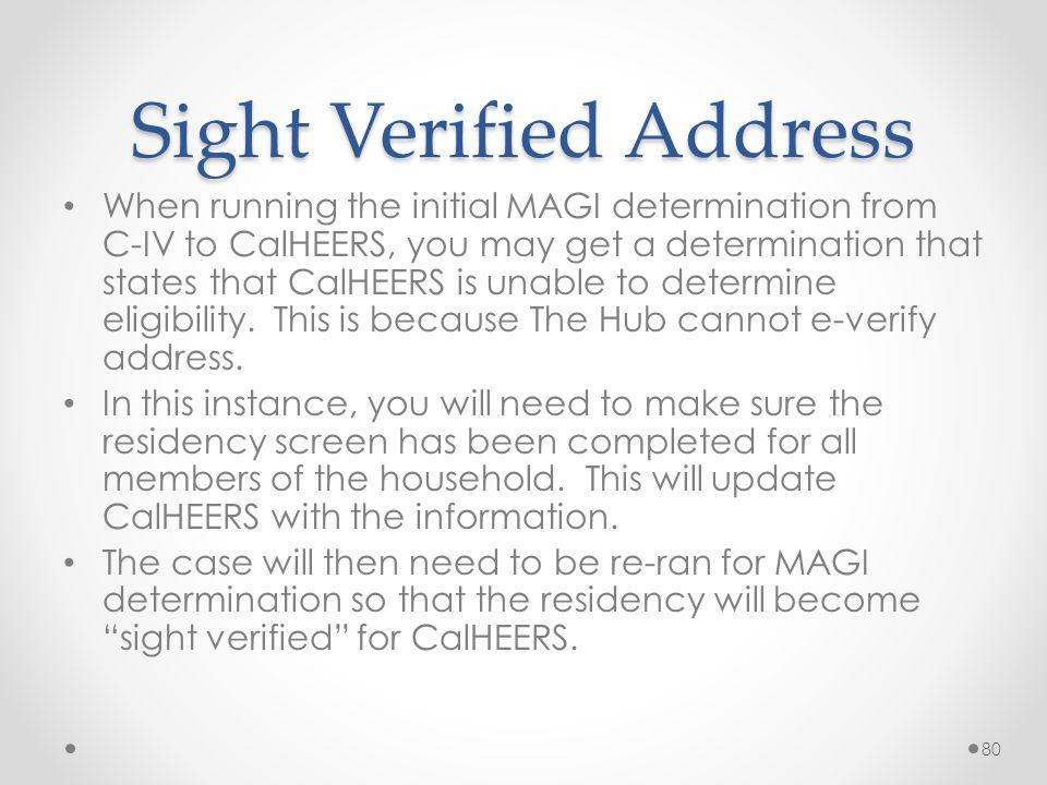 Sight Verified Address