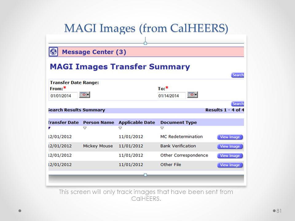 MAGI Images (from CalHEERS)