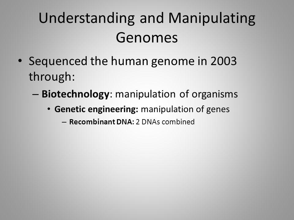 Understanding and Manipulating Genomes