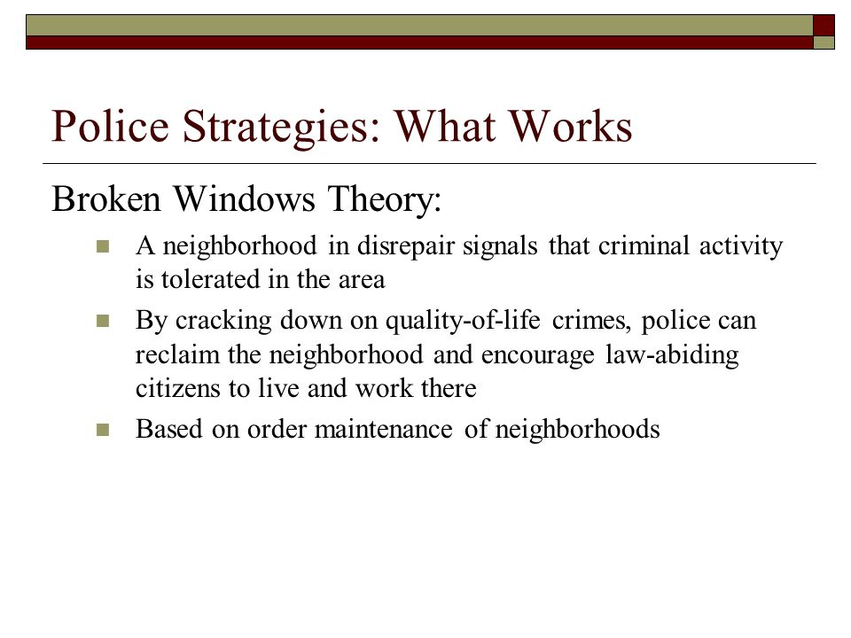Police Strategies: What Works