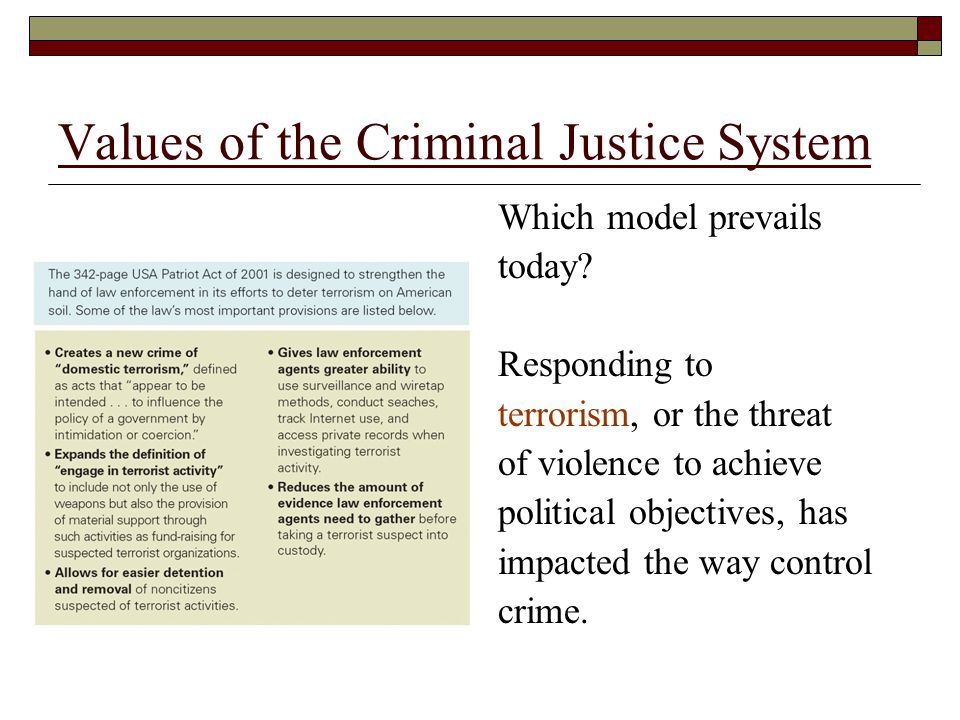 the criminal justice system today What happens when a person is arrested gain insight with understanding the  criminal justice system.